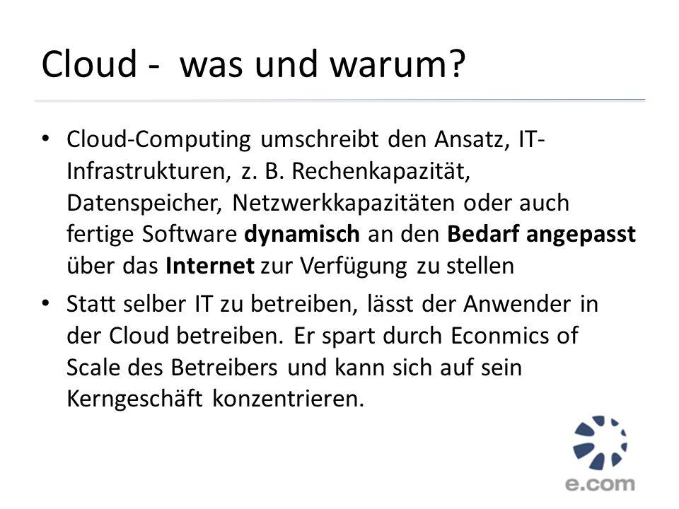 Cloud - was und warum