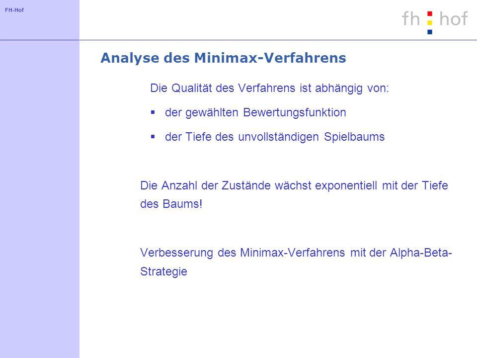 Analyse des Minimax-Verfahrens