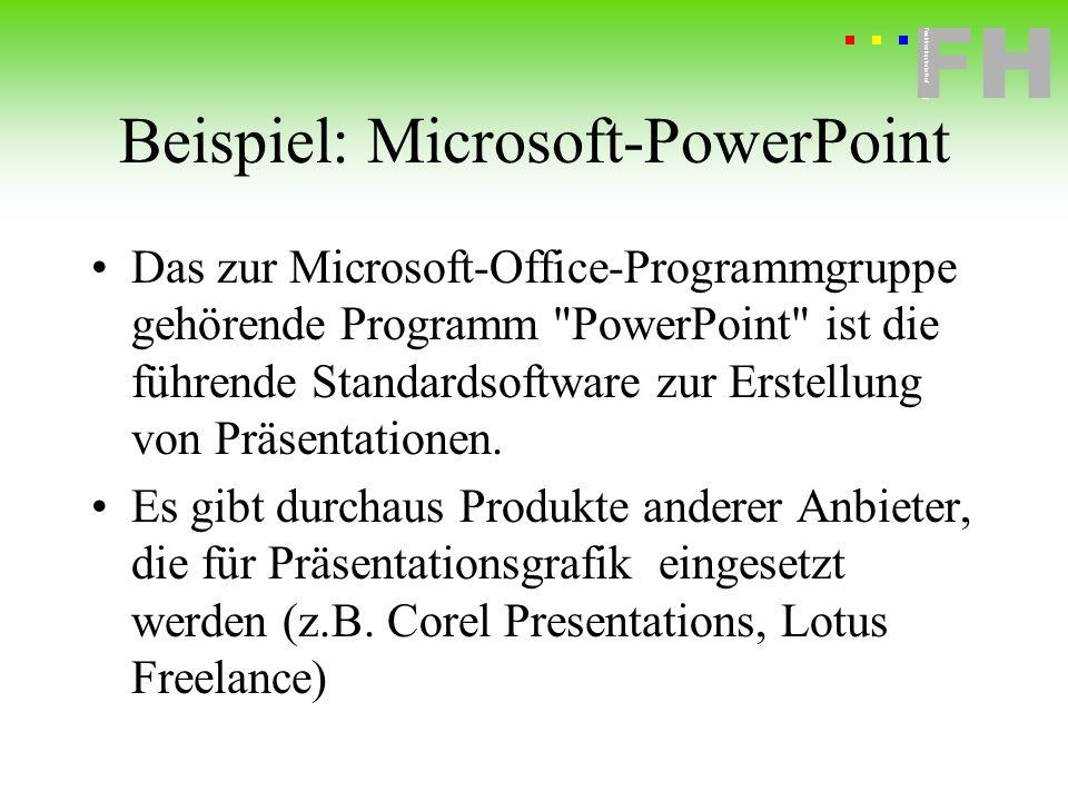Beispiel: Microsoft-PowerPoint