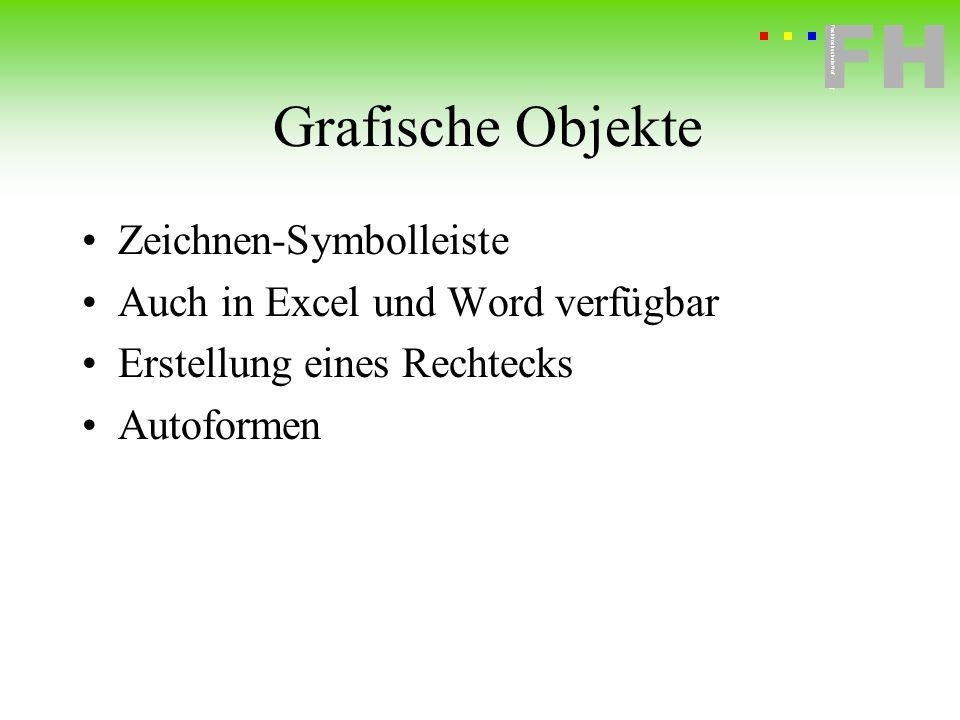 Grafische Objekte Zeichnen-Symbolleiste