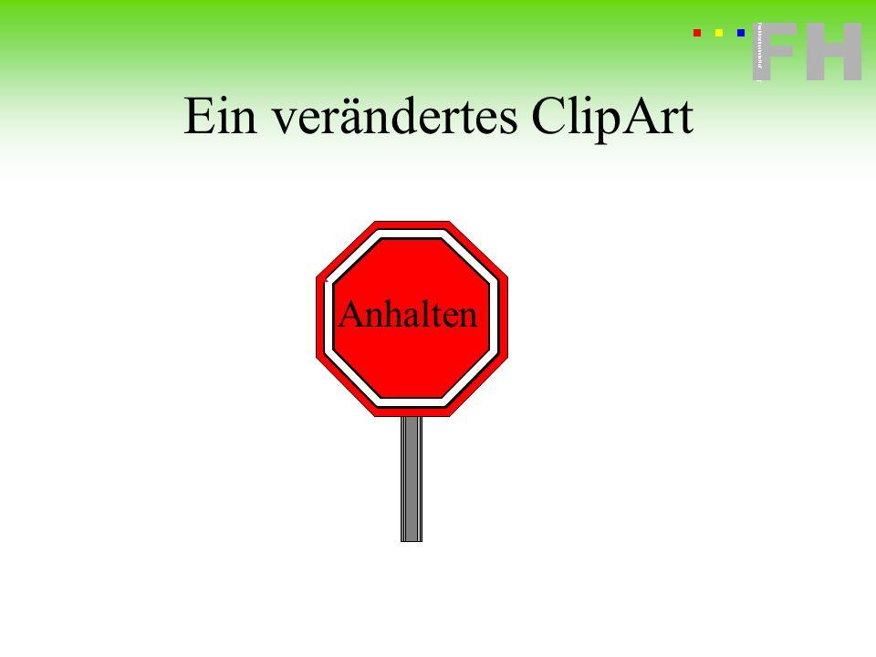 Ein verändertes ClipArt