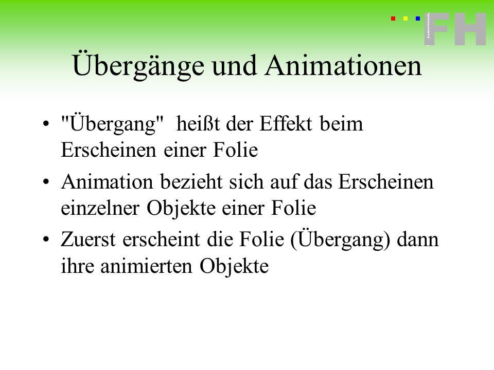 Übergänge und Animationen
