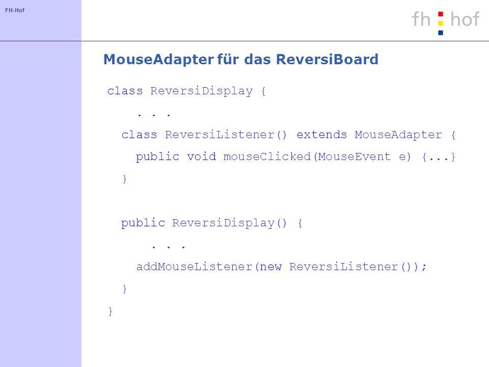 MouseAdapter für das ReversiBoard