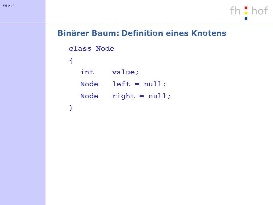 Binärer Baum: Definition eines Knotens