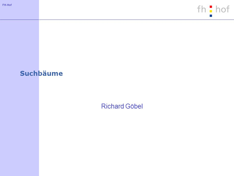 Suchbäume Richard Göbel