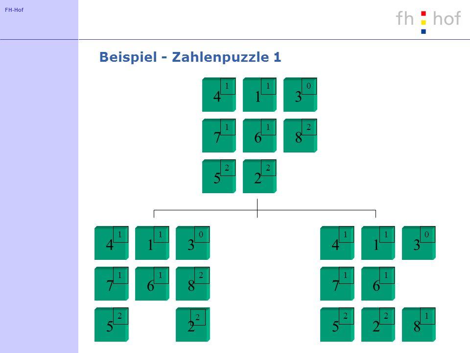 Beispiel - Zahlenpuzzle 1