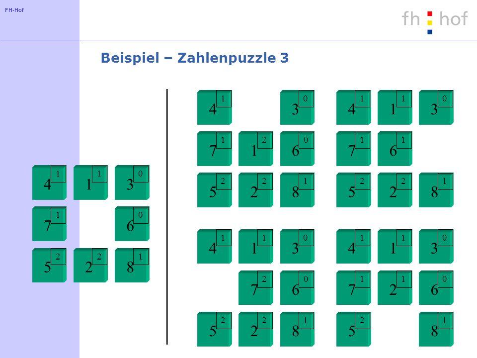 Beispiel – Zahlenpuzzle 3