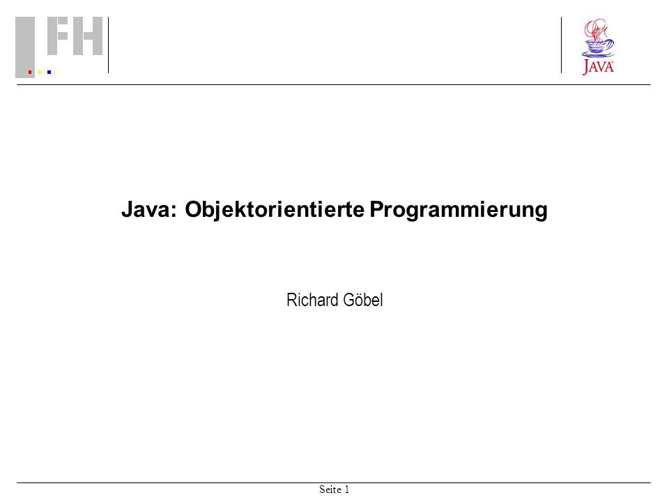 Java: Objektorientierte Programmierung