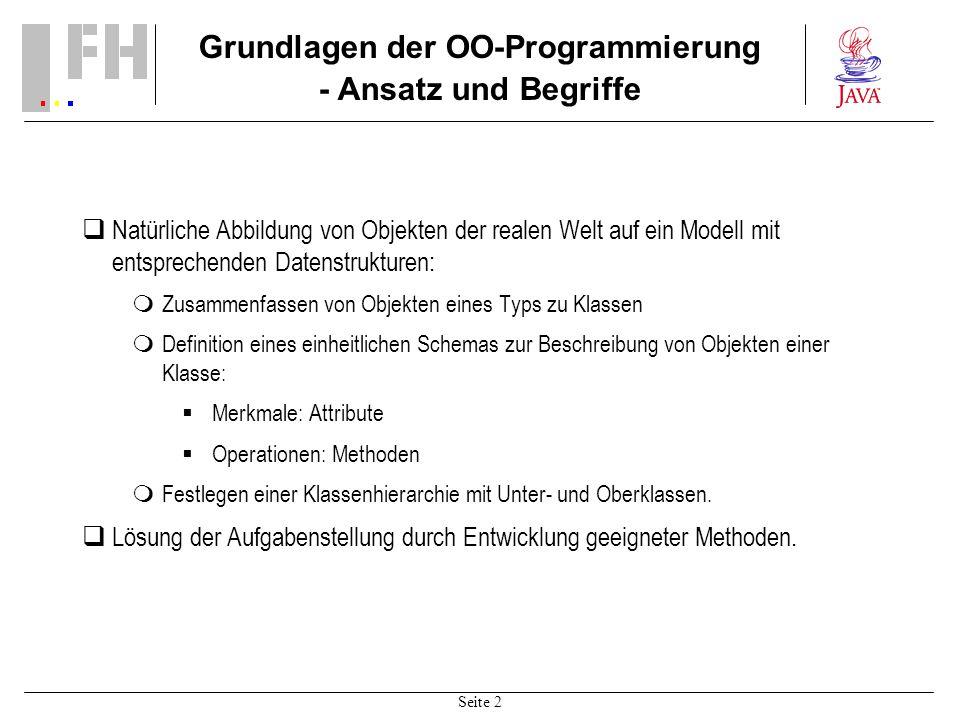 Grundlagen der OO-Programmierung - Ansatz und Begriffe