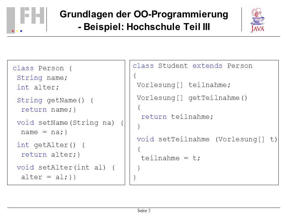 Grundlagen der OO-Programmierung - Beispiel: Hochschule Teil III