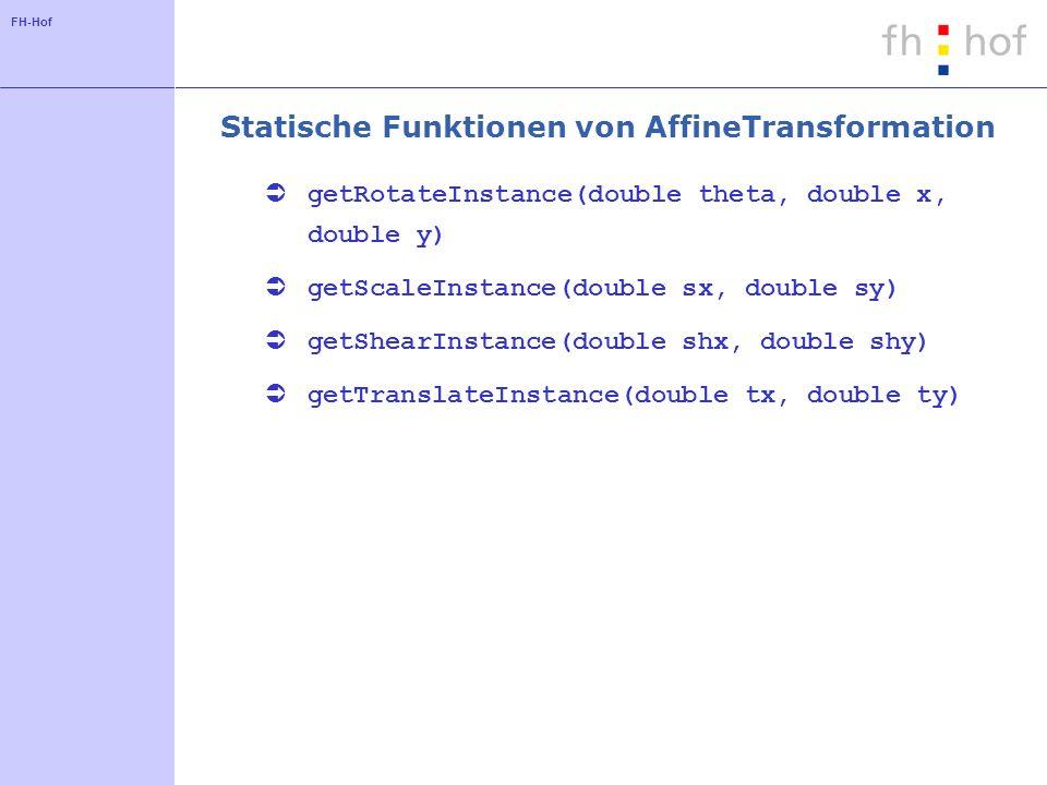 Statische Funktionen von AffineTransformation