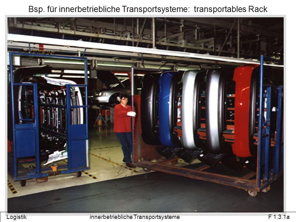 Bsp. für innerbetriebliche Transportsysteme: transportables Rack