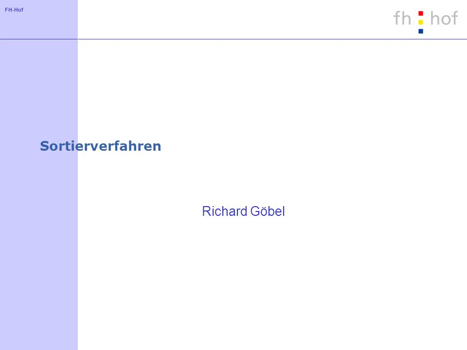Sortierverfahren Richard Göbel