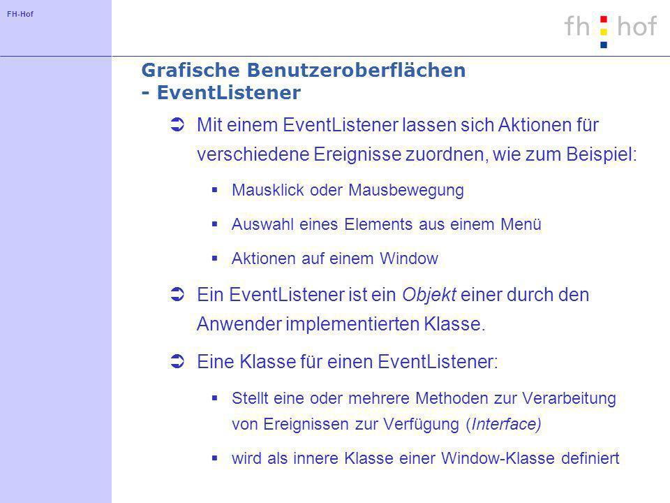 Grafische Benutzeroberflächen - EventListener