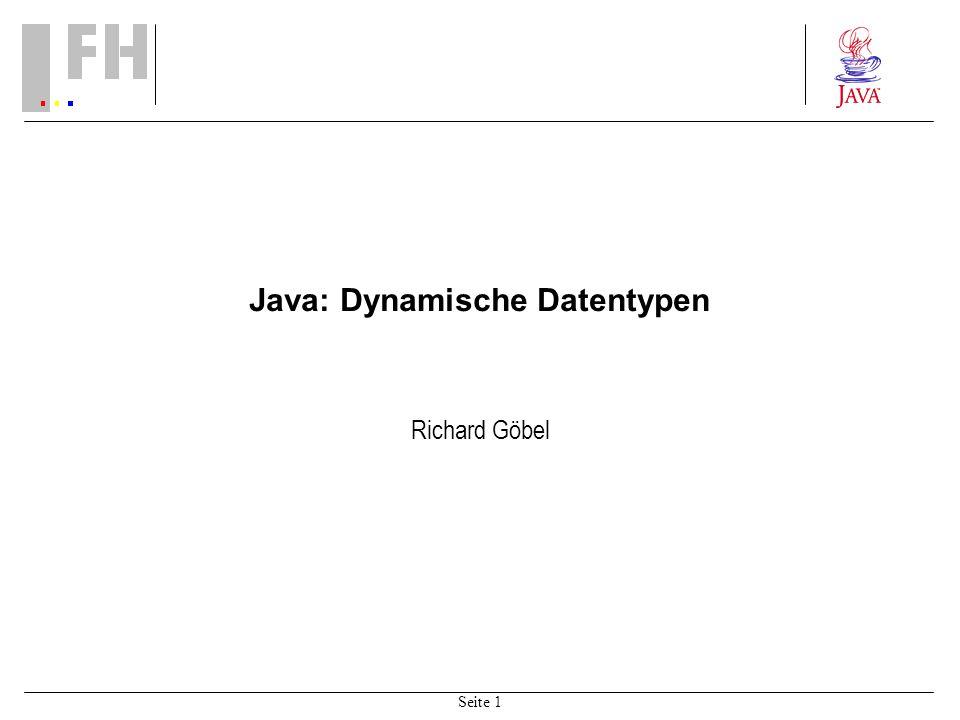 Java: Dynamische Datentypen