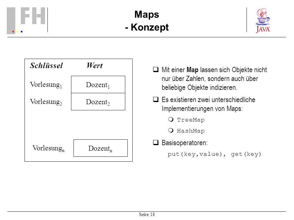 Maps - Konzept Schlüssel Wert