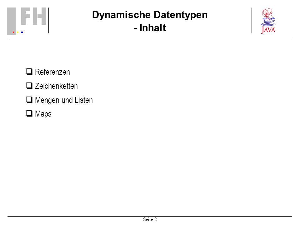 Dynamische Datentypen - Inhalt