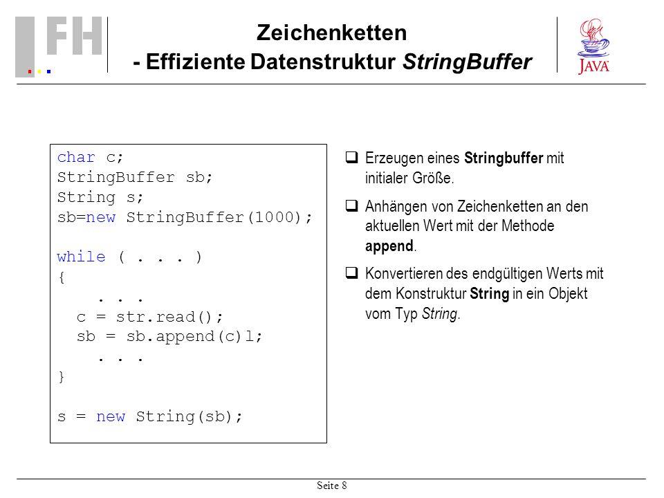 Zeichenketten - Effiziente Datenstruktur StringBuffer