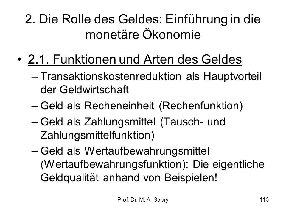 2. Die Rolle des Geldes: Einführung in die monetäre Ökonomie