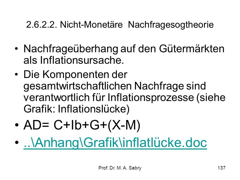 2.6.2.2. Nicht-Monetäre Nachfragesogtheorie
