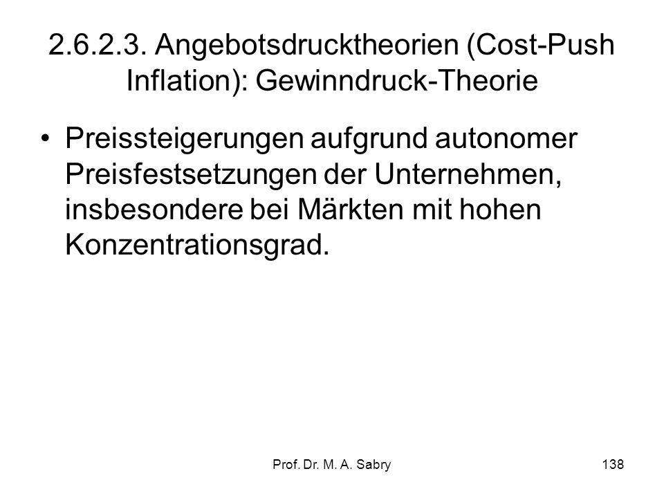 2.6.2.3. Angebotsdrucktheorien (Cost-Push Inflation): Gewinndruck-Theorie