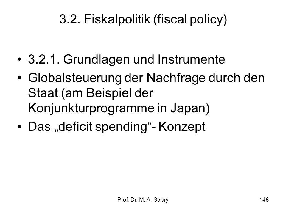 3.2. Fiskalpolitik (fiscal policy)