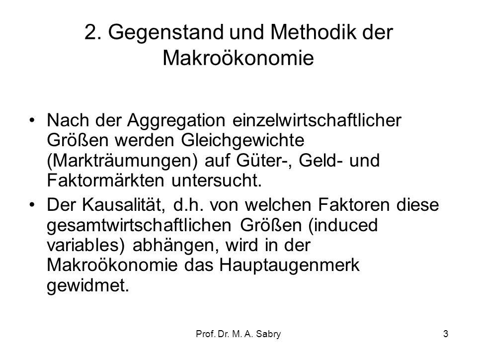 2. Gegenstand und Methodik der Makroökonomie