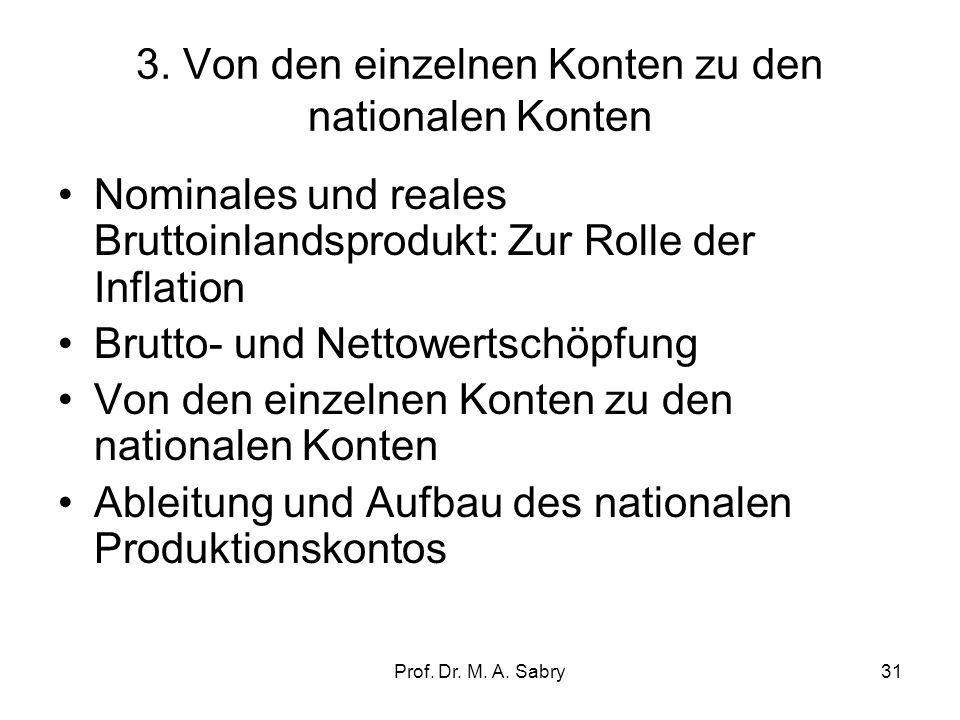 3. Von den einzelnen Konten zu den nationalen Konten