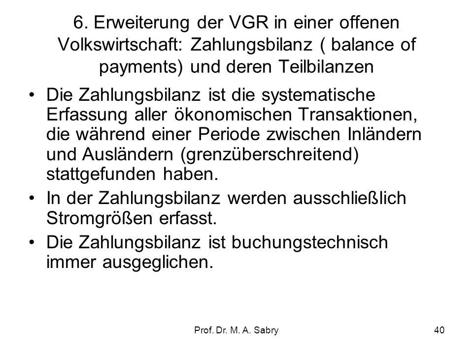 In der Zahlungsbilanz werden ausschließlich Stromgrößen erfasst.