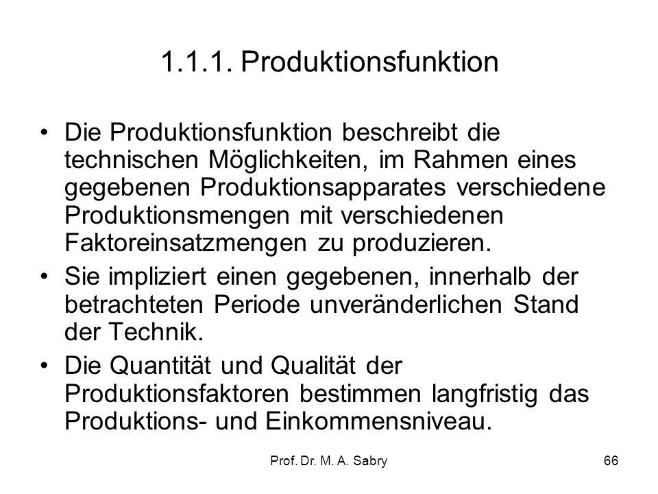 1.1.1. Produktionsfunktion