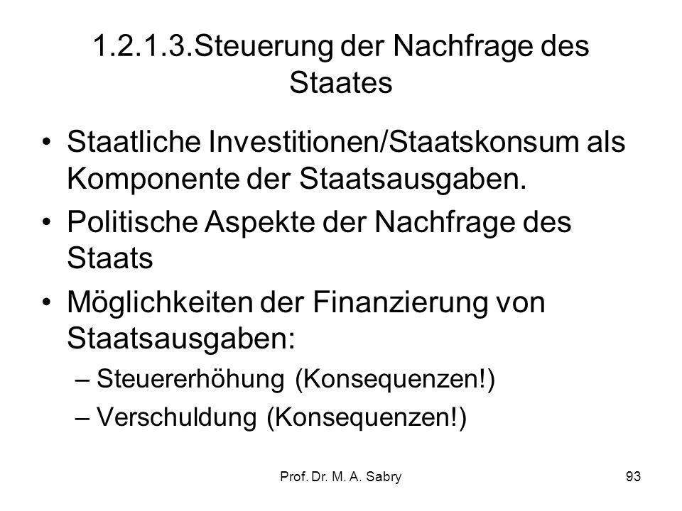 1.2.1.3.Steuerung der Nachfrage des Staates