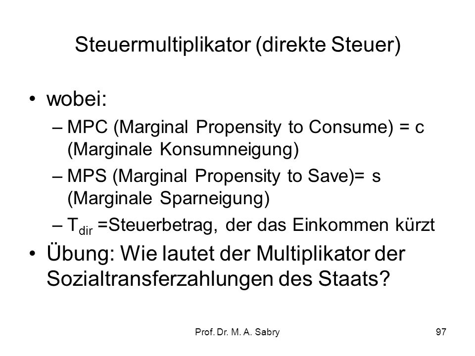 Steuermultiplikator (direkte Steuer)