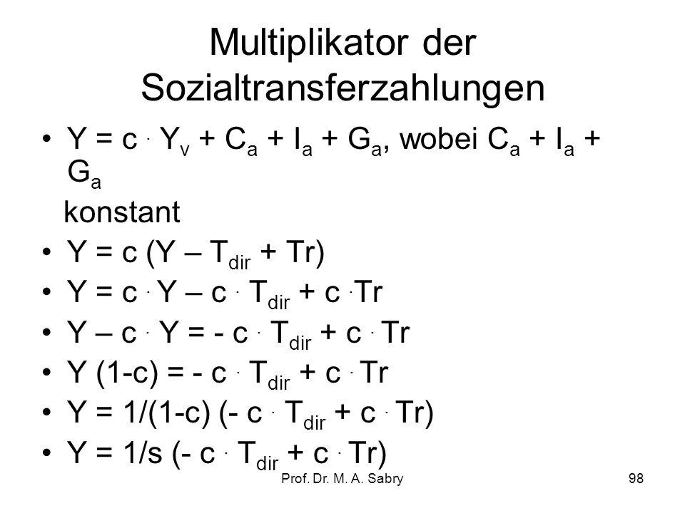 Multiplikator der Sozialtransferzahlungen