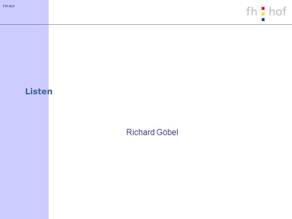 Listen Richard Göbel