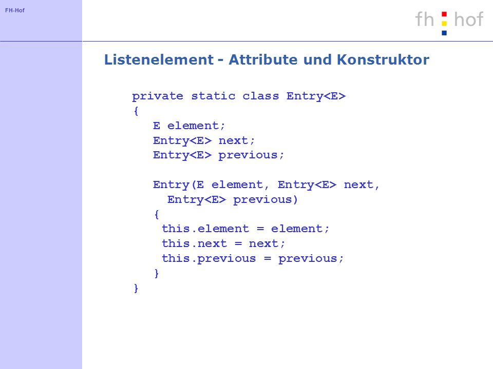 Listenelement - Attribute und Konstruktor