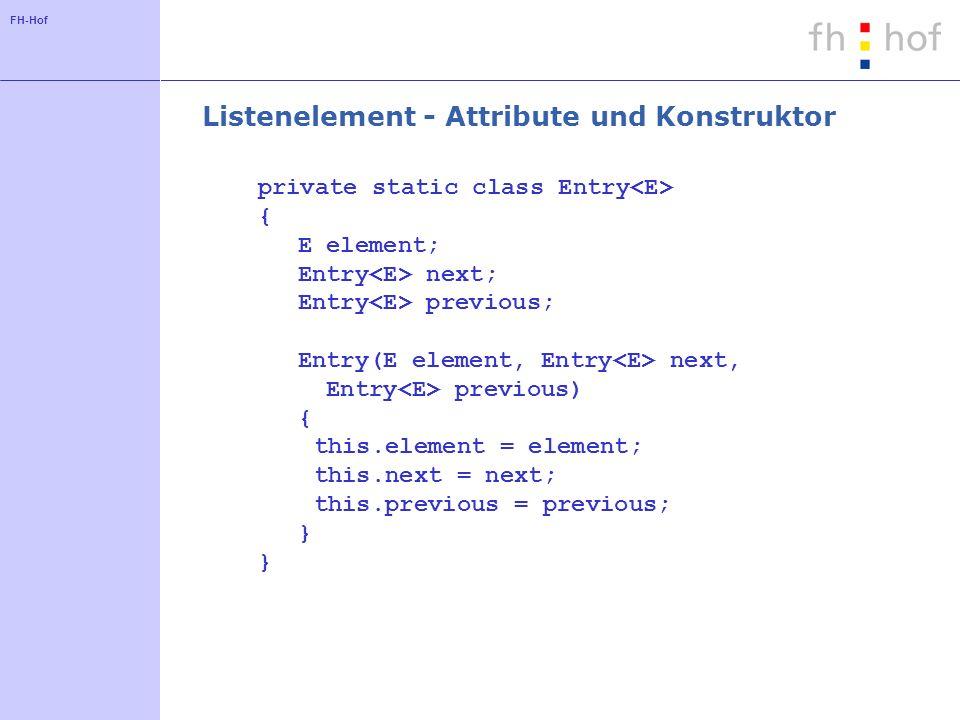 Listenelement - Attribute und Konstruktor