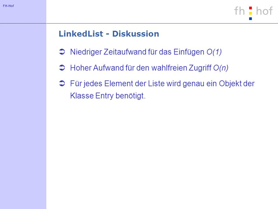 LinkedList - Diskussion