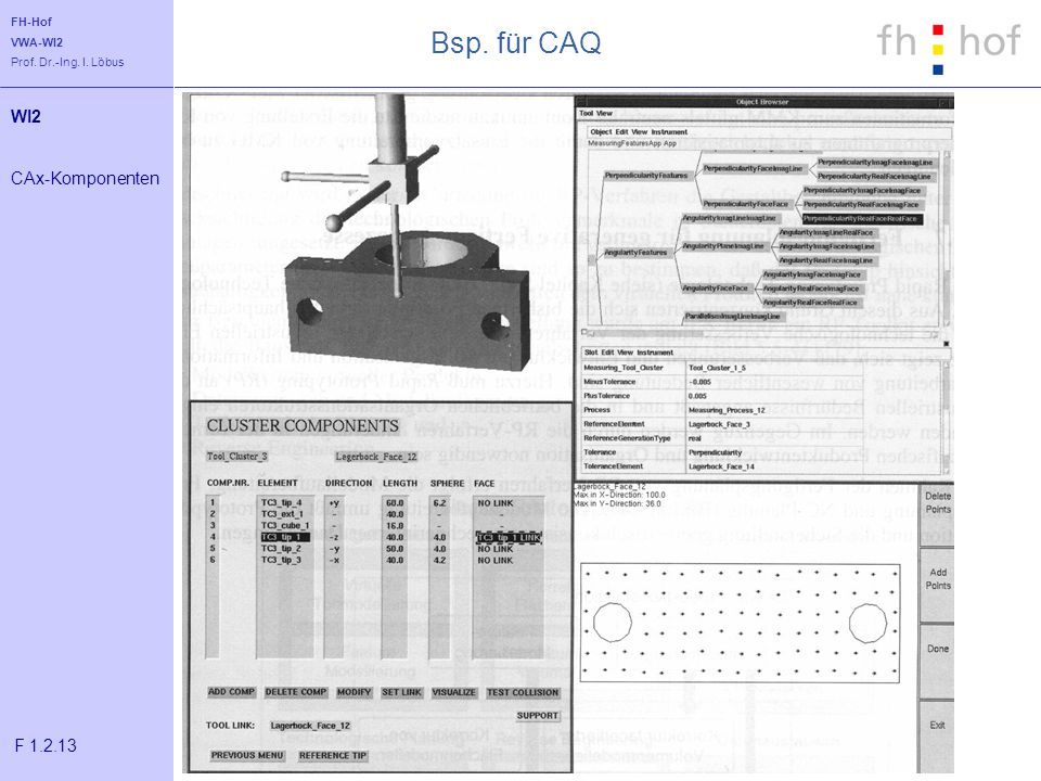 Bsp. für CAQ WI2 CAx-Komponenten F 1.2.13