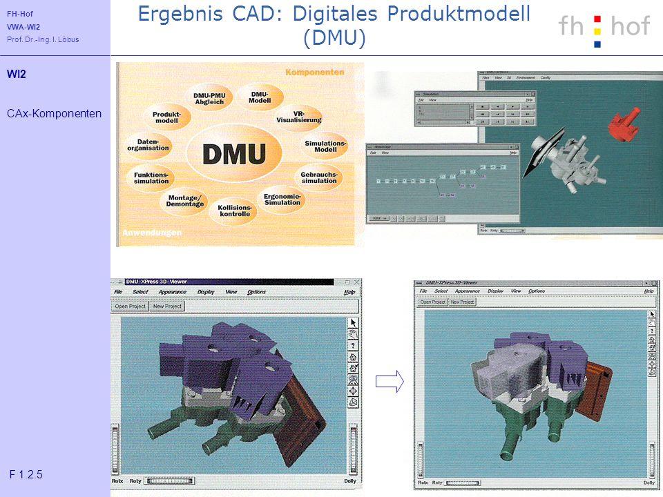 Ergebnis CAD: Digitales Produktmodell (DMU)