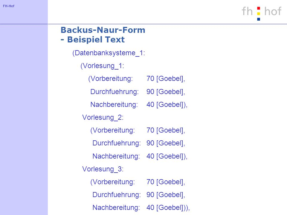 Backus-Naur-Form - Beispiel Text