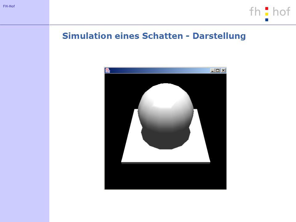 Simulation eines Schatten - Darstellung