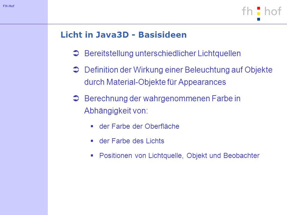 Licht in Java3D - Basisideen