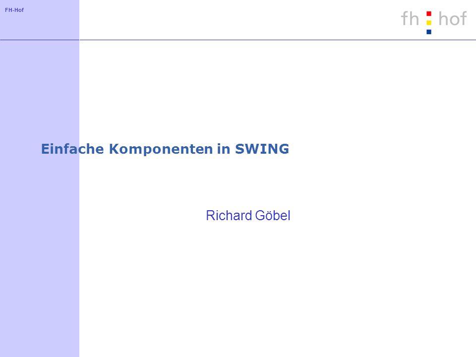 Einfache Komponenten in SWING