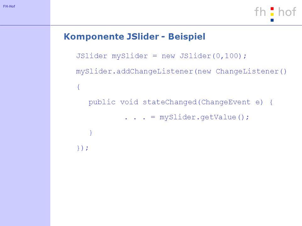 Komponente JSlider - Beispiel