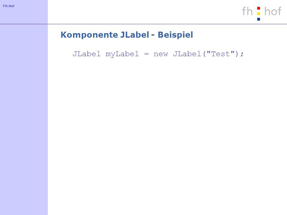 Komponente JLabel - Beispiel