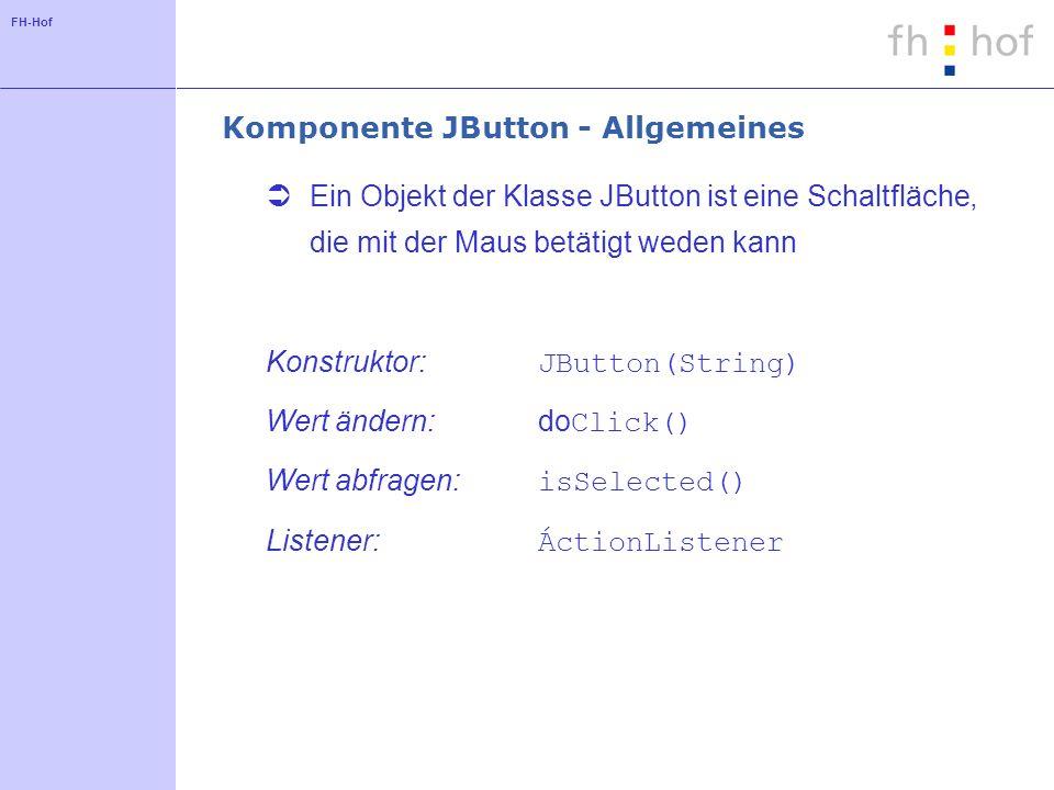 Komponente JButton - Allgemeines