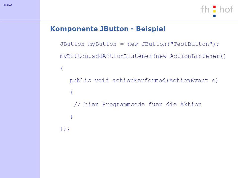 Komponente JButton - Beispiel