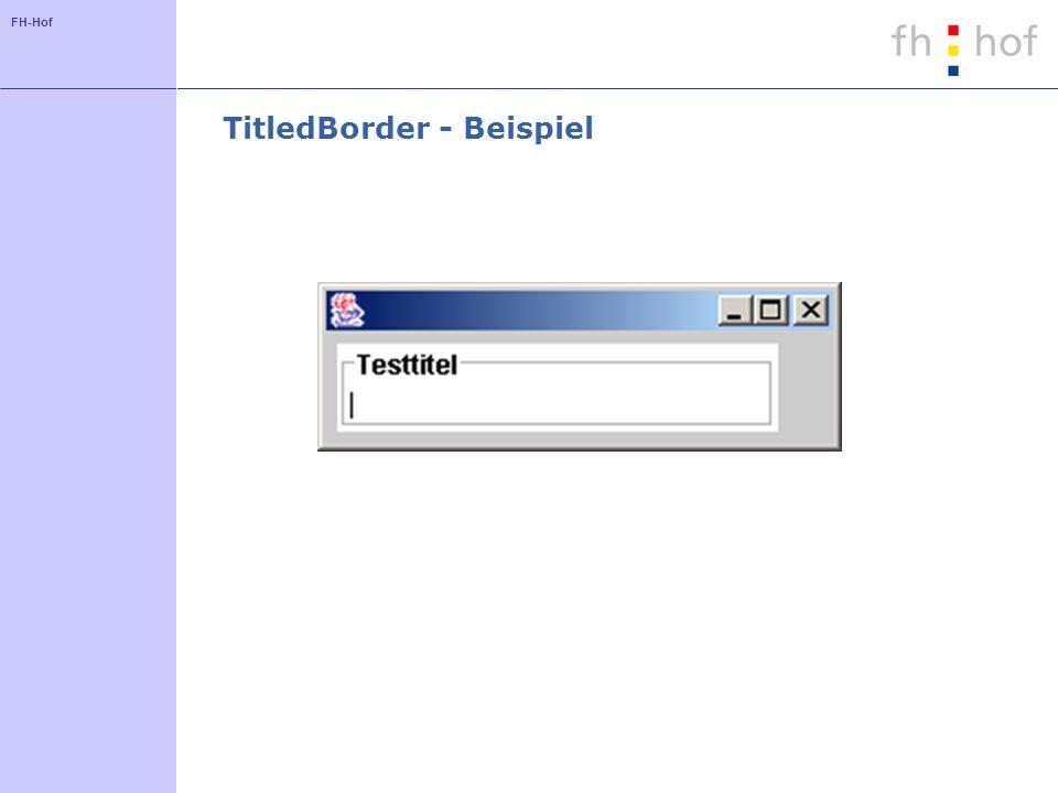 TitledBorder - Beispiel