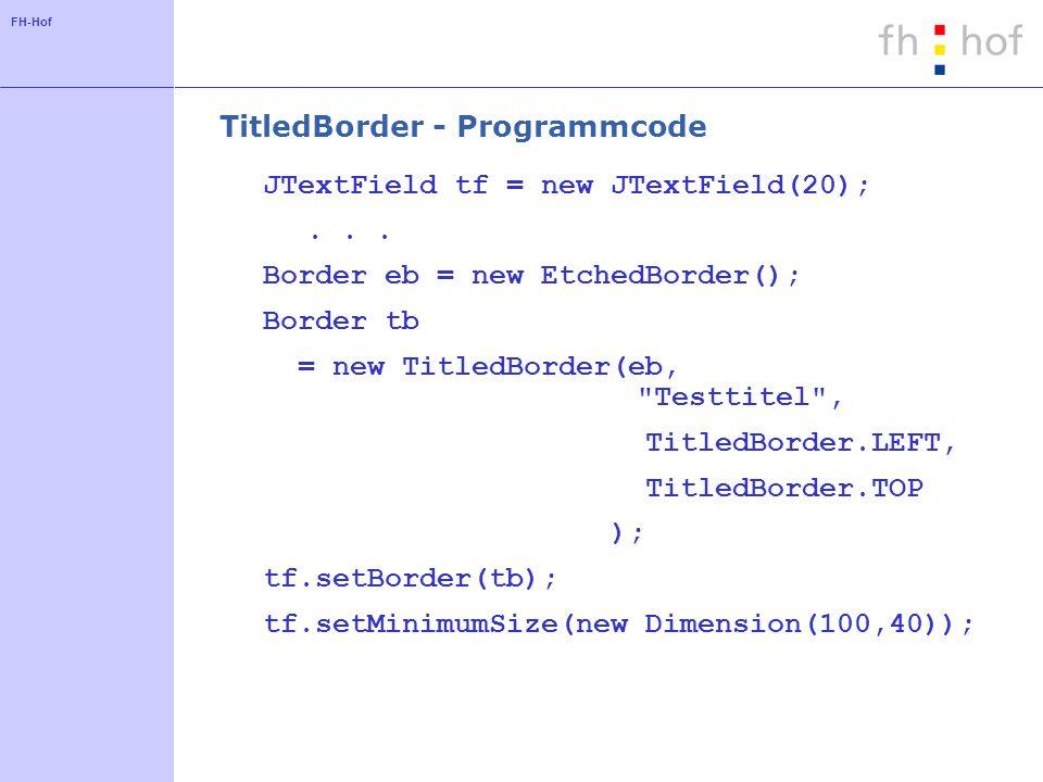 TitledBorder - Programmcode