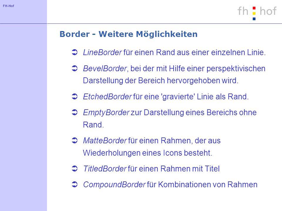 Border - Weitere Möglichkeiten